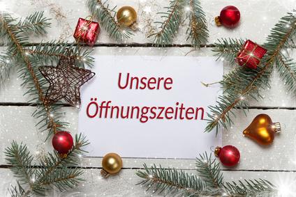 Unsere Öffnungszeiten An Weihnachten